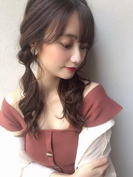 簡単アレンジ★ロング/オルちゃん/ベージュ/小顔