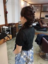 結婚式に参列のダウンスタイル・まとめ髪。.11