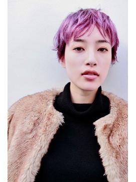 ヴァイオレットピンクのベリーショート【表参道/青山 drop】