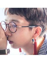 刈り上げメガネ女子 メガネ.55