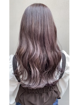 艶髪☆ピンクバイオレットアッシュ/韓国/ムルギョル巻き/渋谷