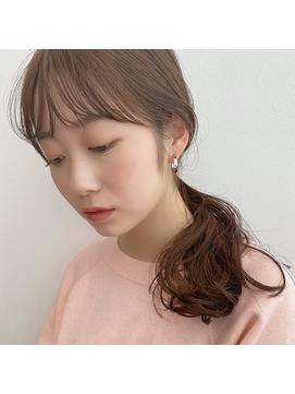 [K-two]シースルーバング/アッシュブラウン/卵型[天王寺/阿倍野]
