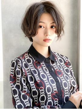 《Agu hair》ふわっと軽カールショートボブ