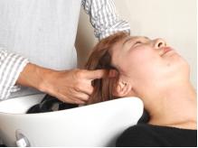 髪や頭皮にやさしいだけでなく、リラックスできるヘッドスパ♪