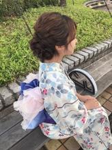 浴衣 着物 パーティー 成人式 卒業式 ヘアアレンジ.2