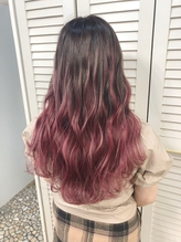 [ankhcross原宿yumi]シールエクステ90枚でピンクグラデーション.8