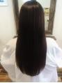 オーガニック使用の水縮毛矯正!根元から毛先まで丁寧に施術していくので、つるん♪とした扱いやすい髪に☆