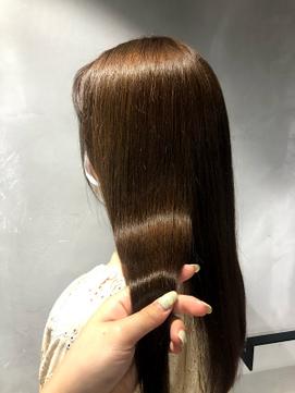 髪質改善トリートメント×ミルクティーブラウン