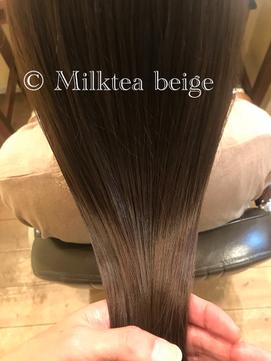 大人可愛いミルクティーベージュ ■ ohana 表参道 髪質改善 ■