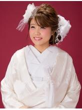 【婚礼・白無垢】おしゃれ花嫁さんのサイドボリュームスタイル カチューシャ.38