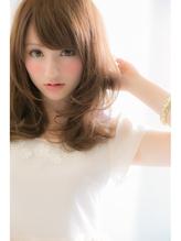 【Euphoria】くびれ☆レイヤー☆ミルクティーカラー☆姫カット 前髪パーマ.45