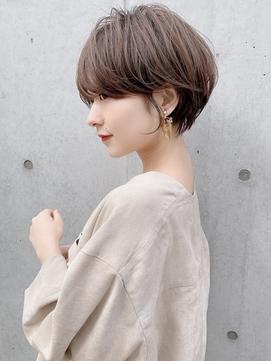 大人可愛い【外ハネボブ/アッシュブラウン/厚めバング】小林