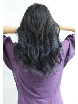 【Blanc/浜松】グラデーションカラー/ブルーグレー/黒髪
