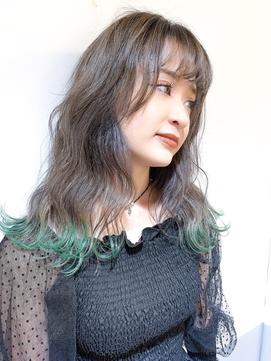 [HELM渋谷]裾カラー☆ミントグリーン