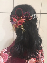 卒業式袴着付け ハーフアップ neolive tiala かんざし.56