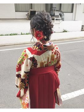 卒業式 hair arrange