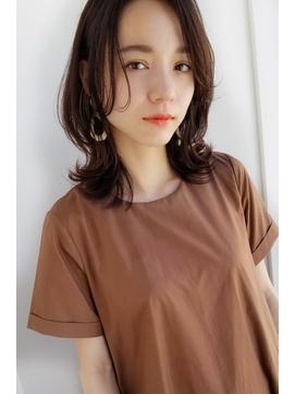【Laf 新谷千絢】前髪なしニュアンス束感くびれセミディ