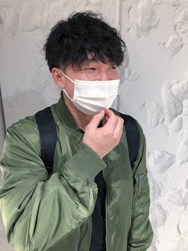《長谷川愛》コンパクトソフトスパイラルパーマ ツーブロック