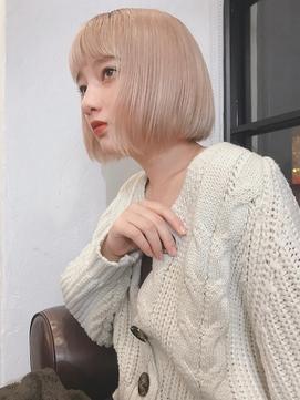 M.SLASH馬車道/金髪/ハイトーン/外国人風/切りっぱなし/ロブz
