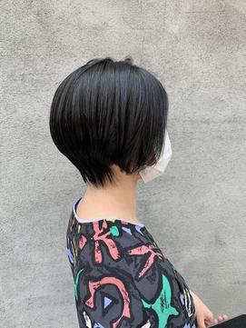 【suite】ショートヘア 艶髪 ブルーブラックカラー