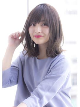 【寺尾拓巳】大人かわいいイルミナカラー毛先パーマくびれミディ