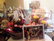 5周年祝いにたくさんのお花をいただきました(*^_^*)
