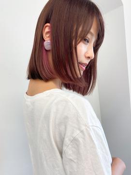 エアリ-ミディ/30代40代50代/オフィス◎イヤリングカラ-長め前髪