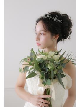 結婚式 花嫁ヘア ブライダルヘア クラシカルアップ