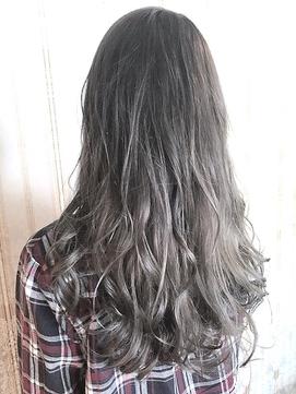 【miel hair blanc】グレージュ☆グラデーションアッシュ