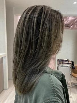 【nex the salon 】ベージュデザインカラー(脱白髪染め可能)