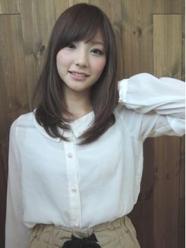 【adorable】潤い&艶感☆外国人風透明感カラー×セミディ