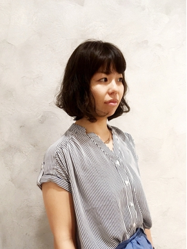 ボヌールヘアー 綾瀬【岡部 賢悟】ワッフルボブ