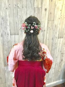 袴や着物のヘアーセットと着付は北区表町ヘアスペースムーンで!