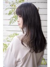 ツヤ感ゆるふわウェーブ×ナナメ前髪×暗めグレージュカラー.48