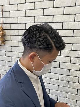【orangedrop万代】ビジネスワイルドツーブロック七三