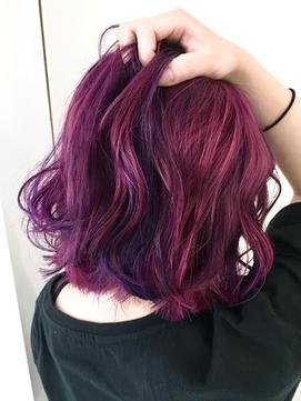 【バックスタイル】ネオンカラー★ピンク × バイオレット