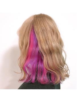 インナーカラー ピンク&ムラサキ