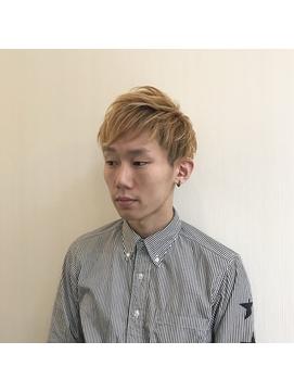バンドマン風金髪2ブロックショート☆