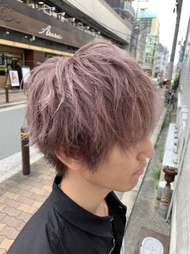 【AURA野田阪神】 夏ショート×モーヴグレージュ