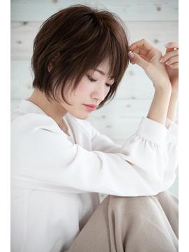 【Rire-リル銀座-】小顔☆斜めバングショートボブ☆