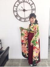 横浜市戸塚駅 卒業式袴着付け&ヘアセット.18