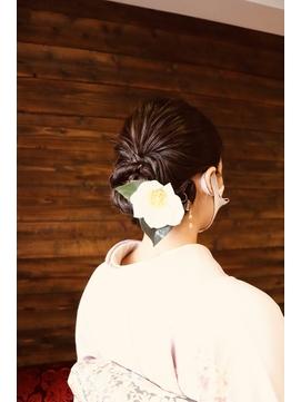 【お宮参り ヘアアレンジ】着物に合う和装アップスタイル
