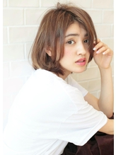 《Agu hair》30代40代大人かわいいナチュラルボブ.25