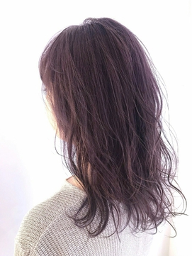 【LANY 横浜】 ウェーブロング×バイオレットアッシュ