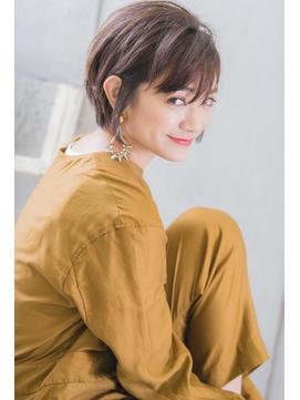 【stylist松田】明るく染まる白髪染め グレージュ ショート