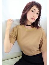 【ピンクパープル×ベビーバング】仲宗根 尚美 冬色.58