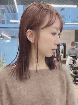 透明感カラー ピンクブラウン 暖色カラー モテ髪カタログ モーヴ