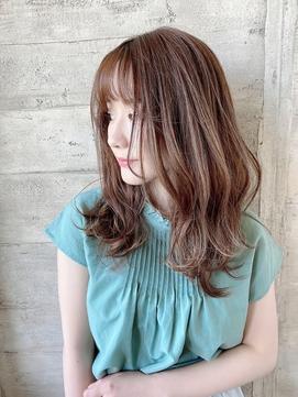 【卵型面長】の方に似合う大人かわいい美髪セミロングby橋本圭司