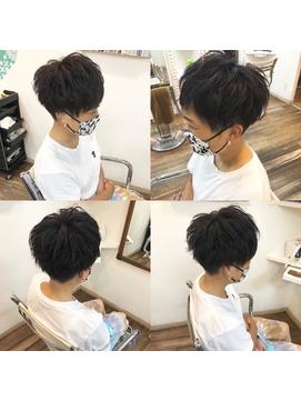 ☆黒髪×刈り上げツーブロック女子☆