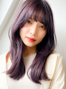 【重村春奈】大人かわいい韓国ヘア/斜め前髪/外ハネくびれミディ